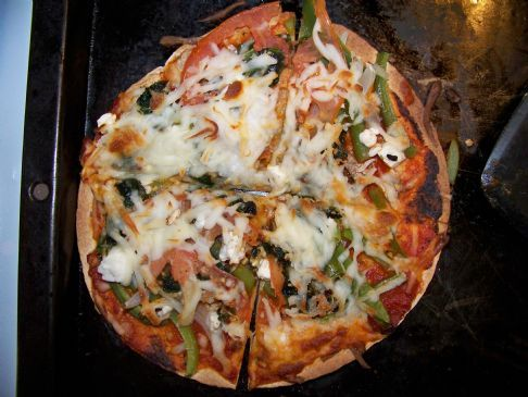 Whole Wheat Tortilla Pizza