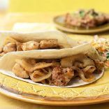 Apple and Onion Chicken Soft Tacos