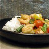 Thai Shrimp Stir-fry with Tomatoes and Basil