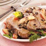 Apple-Raisin Pork Chops for 2