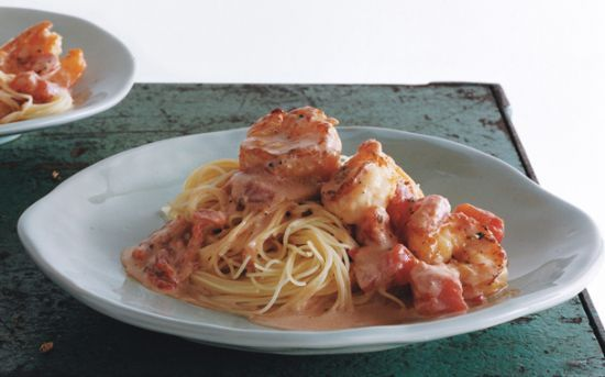 Geraine's Shrimp with Angel Hair Pasta and Creamy Tomato ...