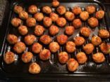 Baked Mini Chicken Meatballs