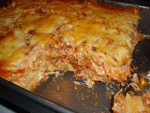 Super Easy Low Fat Lasagna