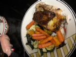 Easy Herb-Roasted Chicken with Roasted Vegetables