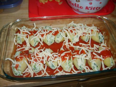 Stuffed Jumbo Shells, Low Calorie