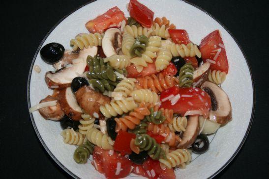 colorful rotini salad