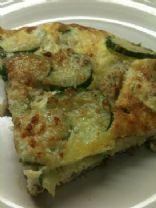 Cucumber and potato frittata