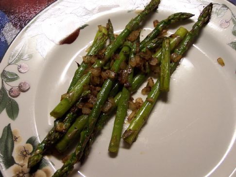 Seasoned Asparagus & Onions