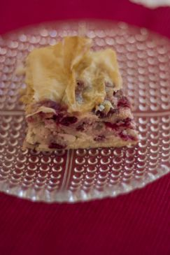 cottage cheese/cranberry strudel