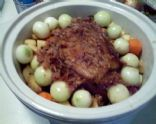 Crock Pot Roast Beef w/Root Vegetables and Chianti