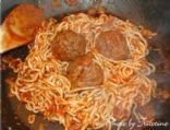 Meatless Meatballs and Shirataki Noodles