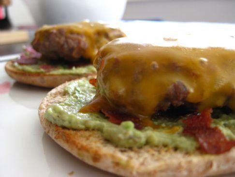 Open-Faced Ostrich Burgers