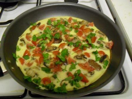 Mushroom & Tomato Fritatta