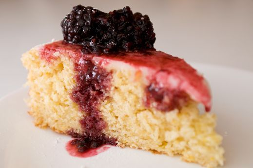 Orange-Scented Cornmeal Cake With Fresh Berries
