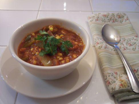 Lindy's Pepper and Corn Vegetarian Chili