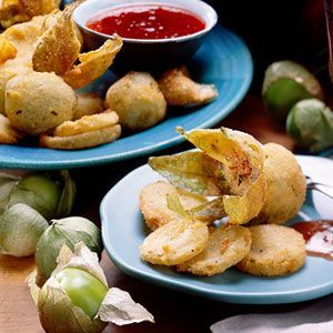 (Sides) Fried Green Tomatillos