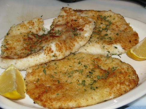Calamari Steaks with Lemon Butter & Parsley