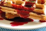 Low-Fat Whole Grain Waffles with Strawberry Syrup