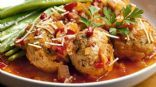 Moroccan Turkey Meatballs with Spiced Tomato Sauce (by Joanne Lusted; CleanEatingMag.com)