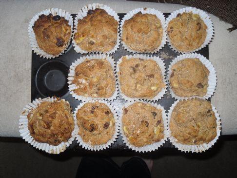 (UK Version) LOW FAT Banana Apple Sauce Muffins