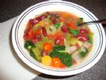 Vegetable Bean Spinach Soup