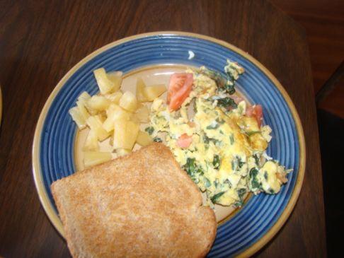 Veggie Scrambled Eggs