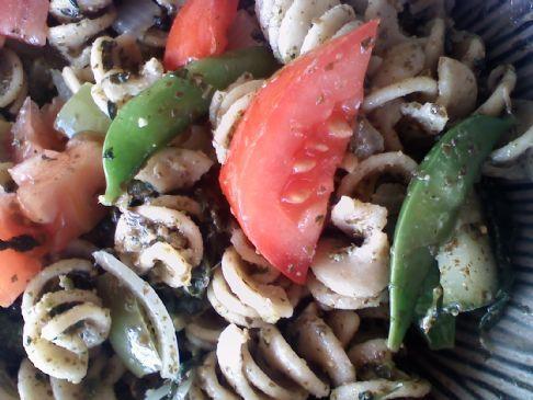 Spinach Rotini Pesto Salad
