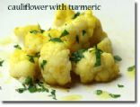 Cauliflower with Turmeric