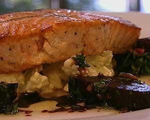 Salmon with Beetroot and Cauliflower