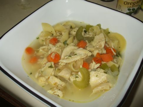 Hearty Gormet Chicken Noodle Soup