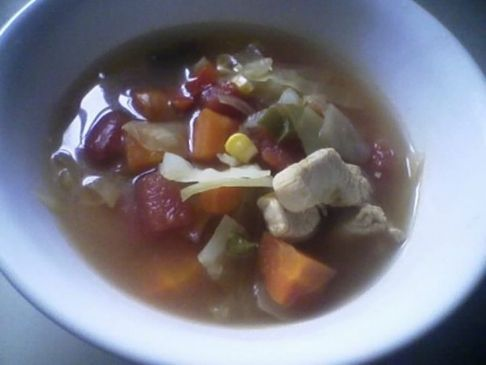 Spicy Chicken and Cabbage Soup