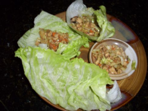 Low Cal Asian Chicken Lettuce Wraps