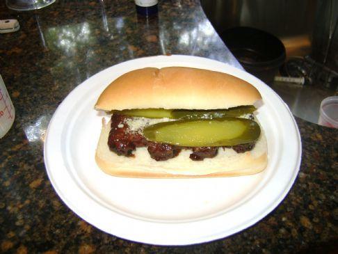 BBQ Rib Sandwich