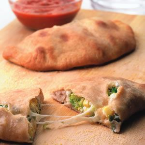 Corn & Broccoli Calzones