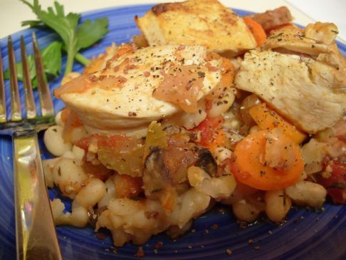 Heart Warming Chicken & White Bean Casserole