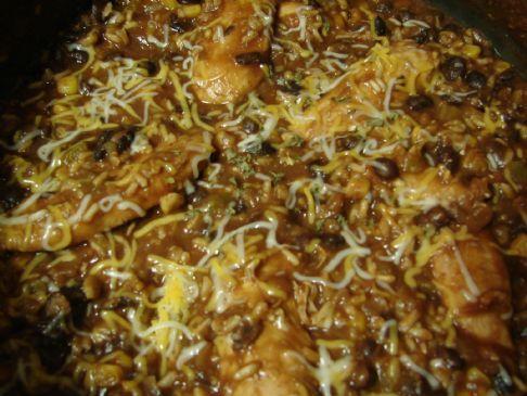 Chicken Skillet Burritos