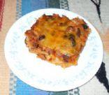 Red Chile Turkey Enchilada Casserole