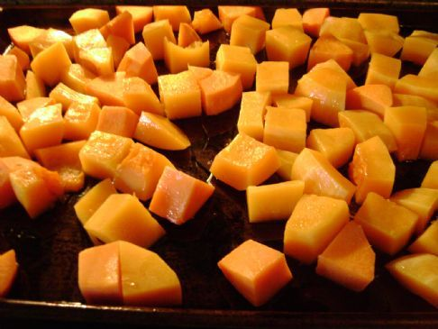 Roasted Butternut squash and Sweet potatoes