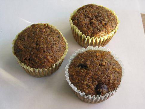 Bran Flax Blueberry Muffins