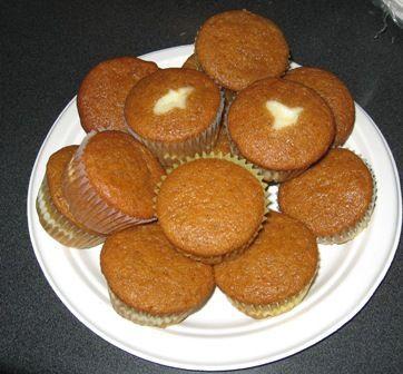 Layered Cream Cheese Pumpkin Muffins