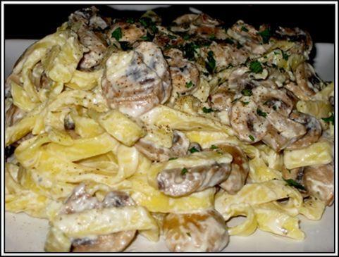 Quick Mushroom & Cheese Pasta