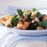 White Bean Salad with Shrimp & Asparagus