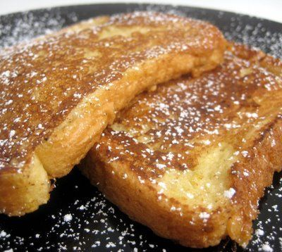 French Toast with Syrup and Powdered Sugar