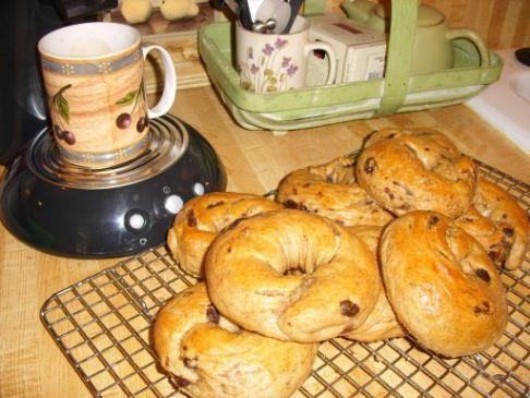 Bread Machine Low Sodium Cinnamon Raisin Bagels