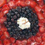 Meringue Mosiac Fruit Pizza