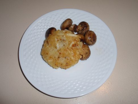 Potato Galette with fried Mushrooms for 1