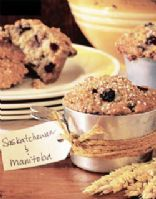 Red River Cereal & Saskatoon Berry Muffins