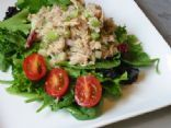 Tuna Salad on Fresh Spinach