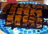 Reverse Peanut Butter Cup Cake
