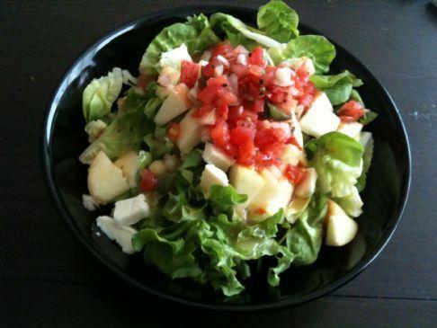 Apple salsa and cheese salad